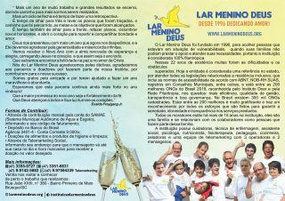 Lar Menino Deus - Folder_Frente boletim informativo