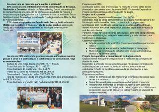 Lar Menino Deus - Folder_Verso boletim informativo